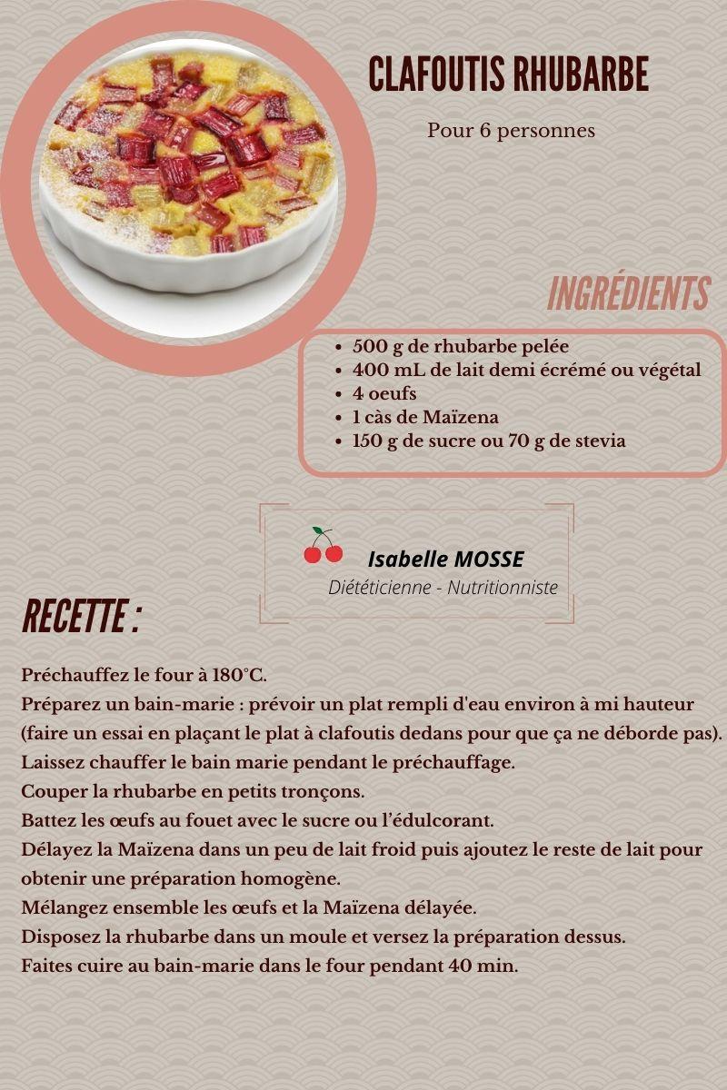 Clafoutis rhubarbe