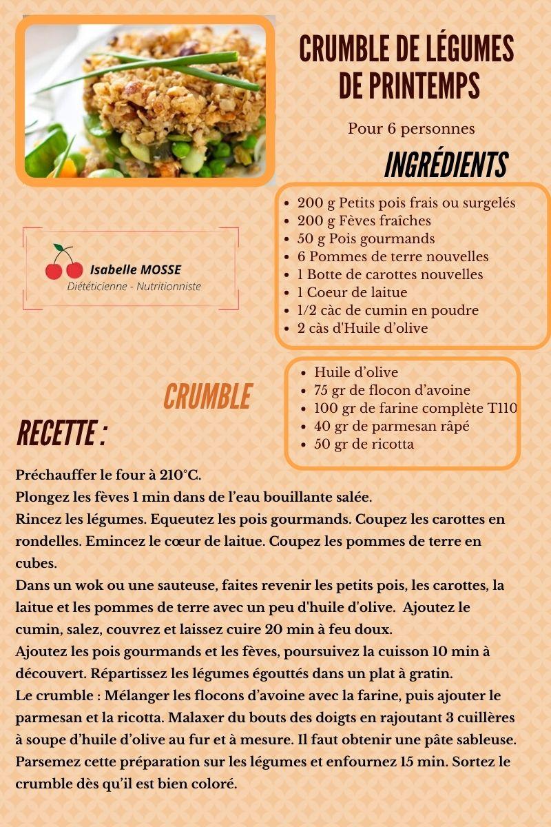 Crumble légumes de Printemps