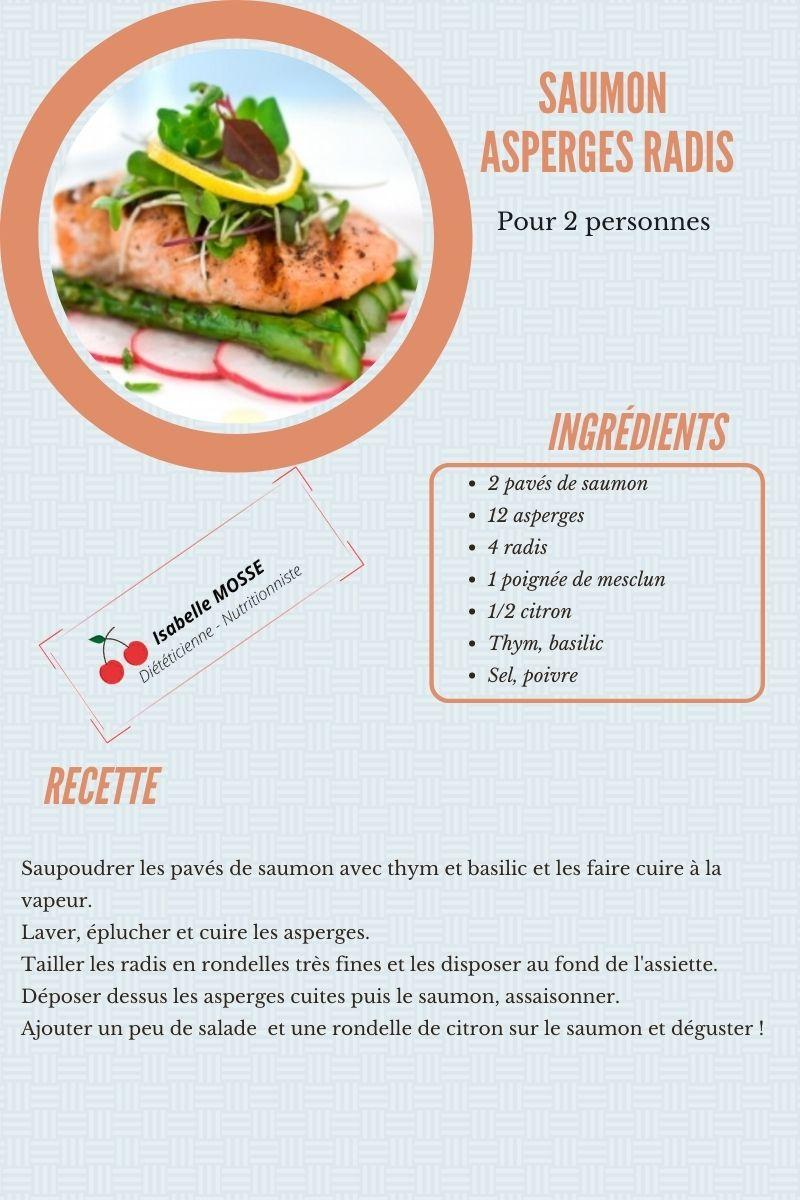 Pavé de saumon asperges