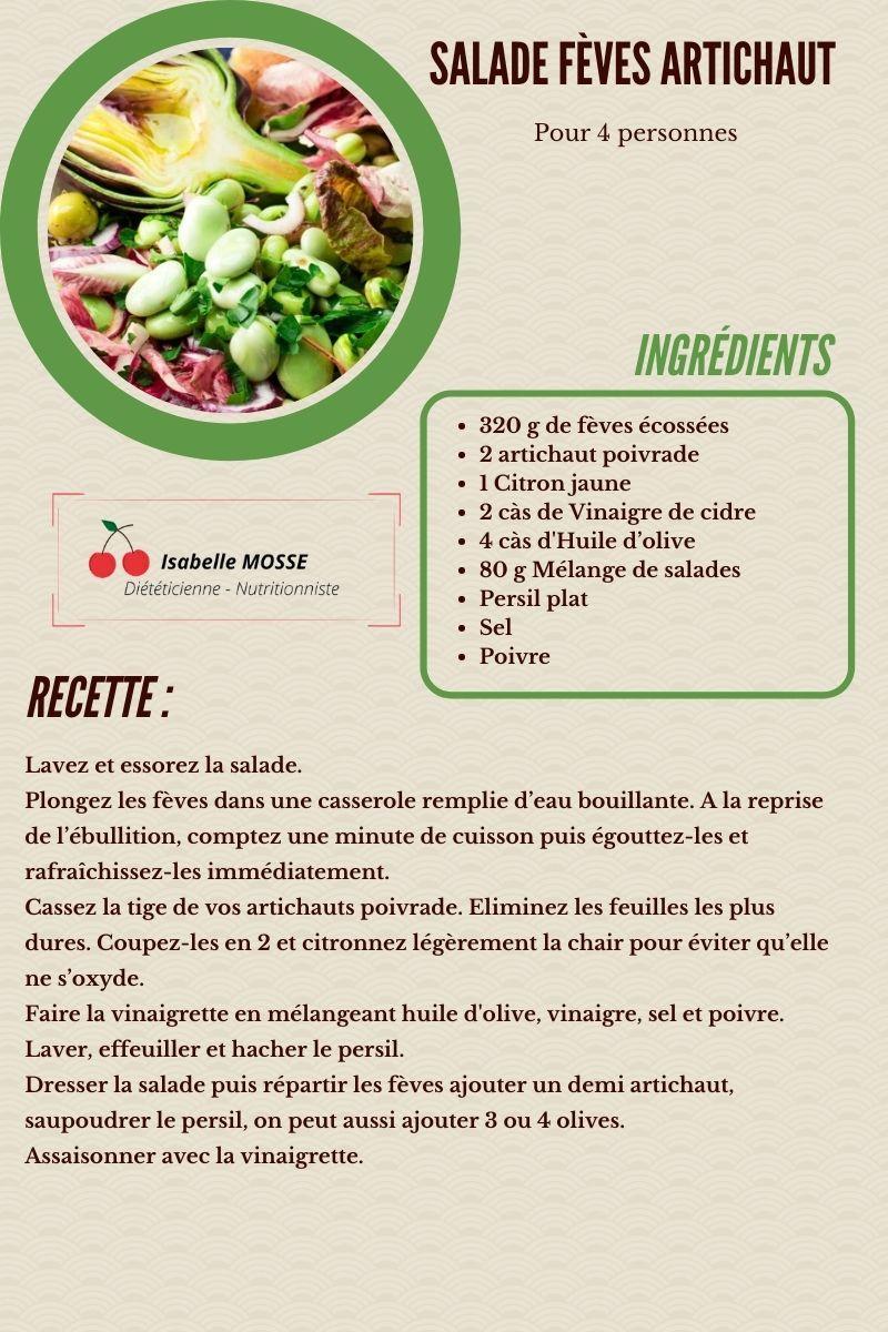 Salade fève artichaut